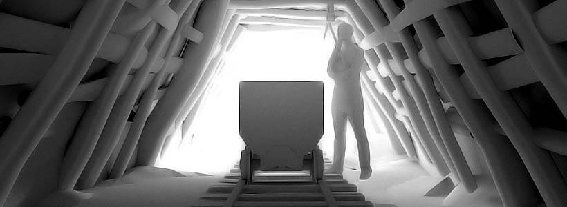 Modelo 3D reconstrucción virtual de la mina de Casetas de Oceja. León. Interior