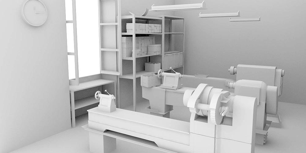 Taller de Antolín. Reconstrucción virtual en 360º. Modelo 3D.