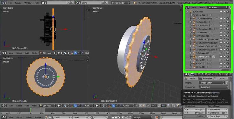 Máquina Enigma: Reconstrucción virtual 3D en Blender