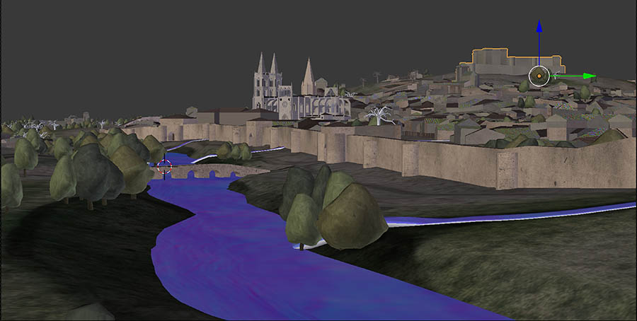 Modelo Burgos S.XV low poly - Reconstrucción virtual de patrimonio