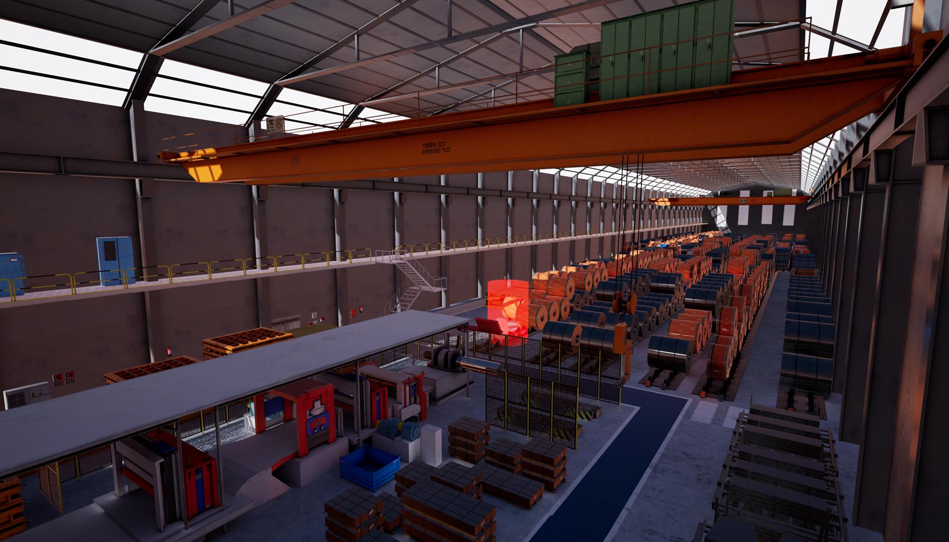 Simulador en realidad virtual de puente grúa con mando hecho en Unreal Engine 4 Vista general