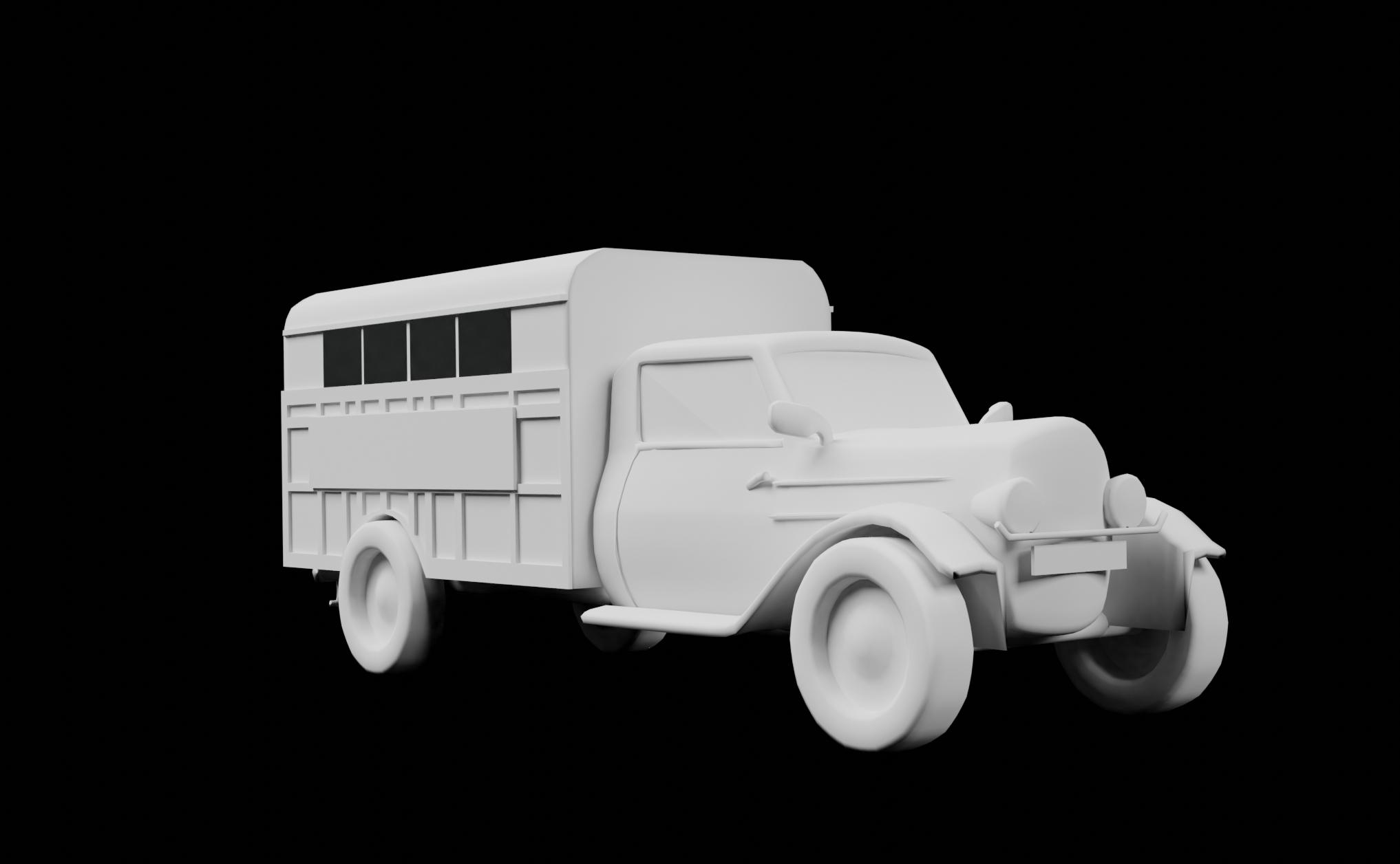 Burgos 1921 Furgón Modelo 3D