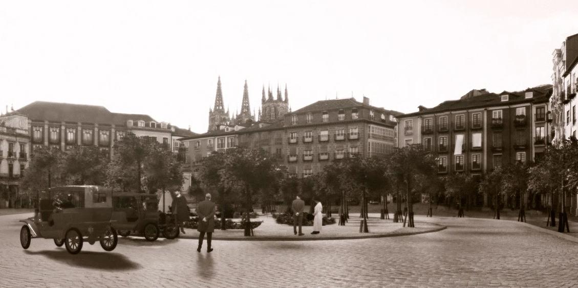Burgos 1921 Plaza Mayor cuadro 1
