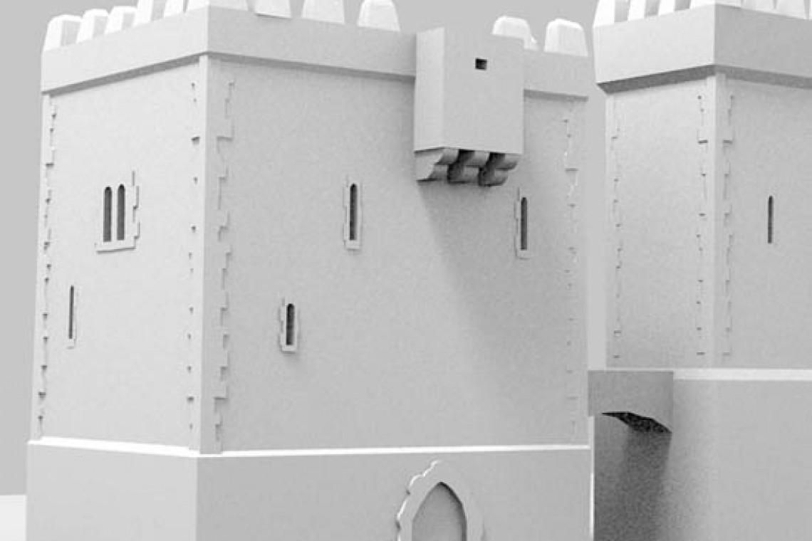 Modelo reconstrucción virtual de Briviesca: Alcázar