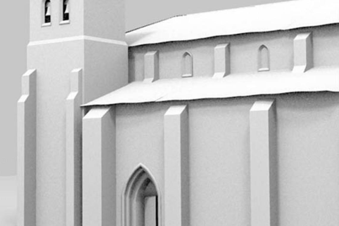 Modelo reconstrucción virtual de Briviesca: Colegiata